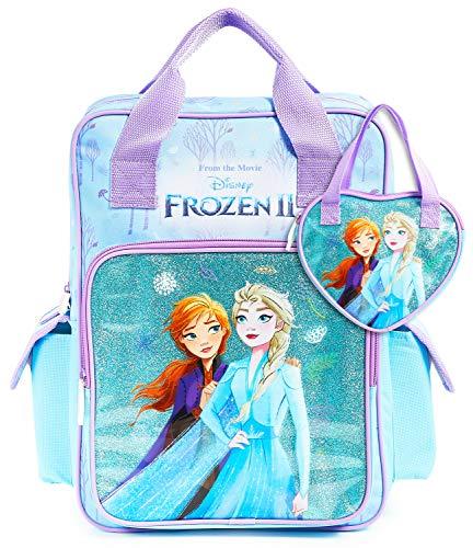 🥇 Disney Mochila Escolar Frozen 2 con Elsa y Ana + Bolso Niña
