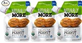 Naturally More 100% Organic Peanut Butter - All Natural - Probiotic Infused-Premium Roasted Peanut Taste-Heart Healthy Flax - Vegan - Gluten Free - Plant Based - Travel Size Snack Packets (3 Packs)