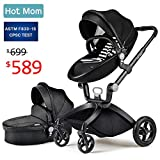 Baby Stroller 2018, Hot Mom Baby Carriage with Bassinet Combo,Black