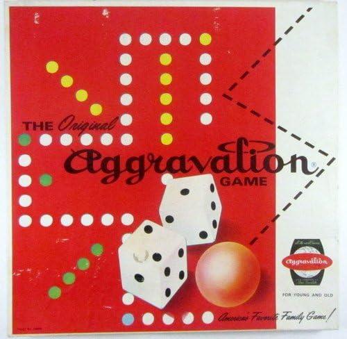 VINTAGE AGGRAVATION GAME BROWN BOARD OXBLOOD MARBLES - 1962 C0-5 NO.13