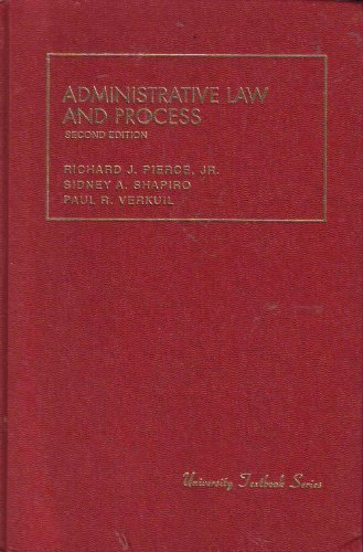 Administrative Law and Process (University Textbook Series)