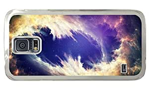 Hipster Samsung Galaxy S5 Case rubber cases Nebula Clouds PC Transparent for Samsung S5 by lolosakes