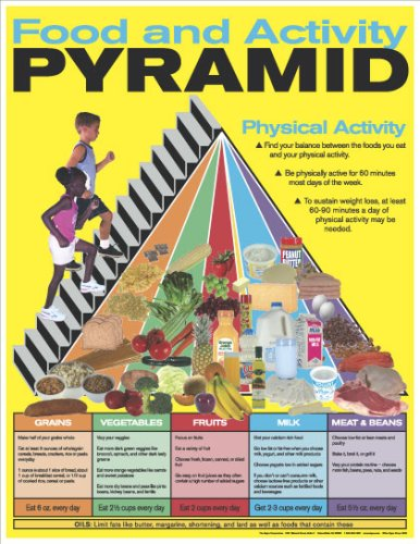 Food and Activity Pyramid Poster - Food Pyramid Poster