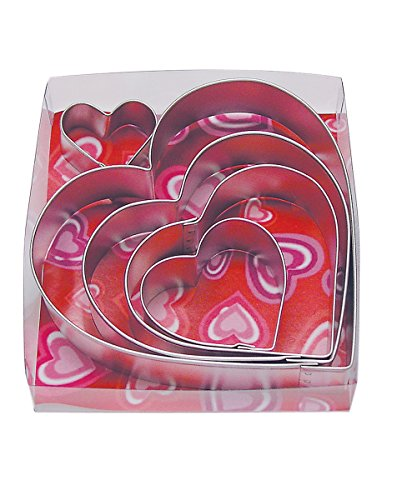 Giant Heart Cookie Recipe - R&M International 1907/B Heart Cookie Cutters, Assorted Sizes, 5-Piece Set