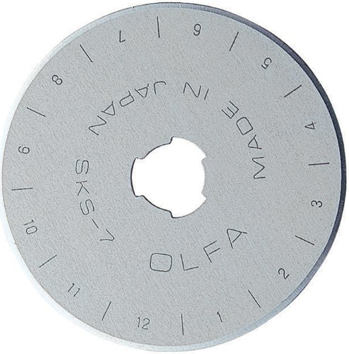 OLFA 1079062 RB45-2 45mm Straight Edge Rotary Blade, 2-Pack (Rotary Straight Blade)