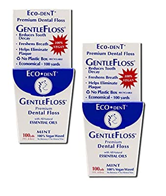 Eco-Dent Premium Dental Floss GentleFloss, Mint Flavored 40 Yards