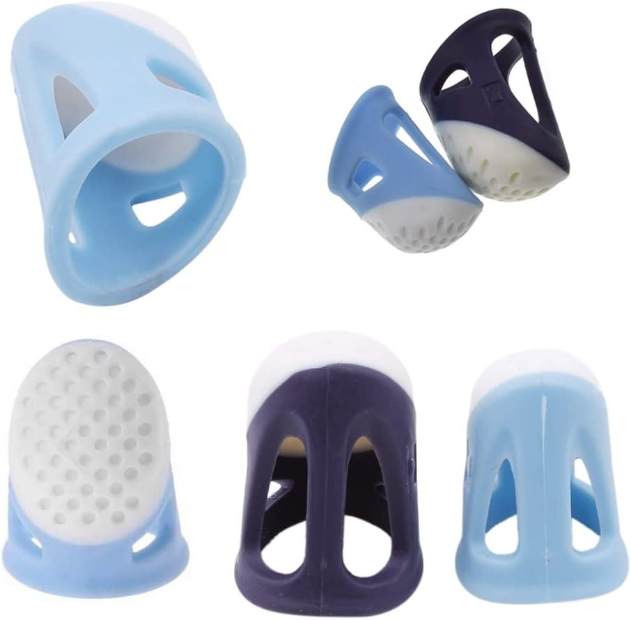 TXIN 2 Pack Silicone Sewing Thimbles for Fingers Thumb Large /& Medium Finger Thimbles for Sewing Quilting Embroidery DIY Craft Safe Comfortable Non-Slip Thimble Finger Protector
