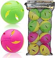 Precision Impact Softball Practice Balls: Heavy-Duty Lightweight Balls for Softball Hitting Training (8-Pack)