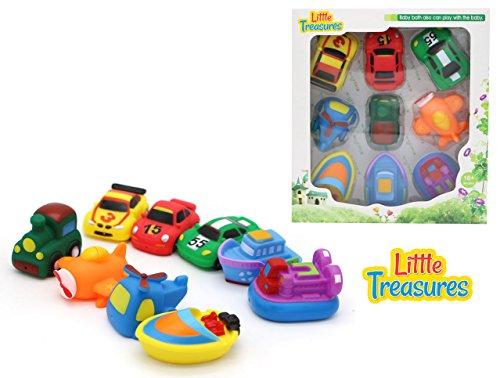 Bathe Time Fun Transport Mania II bath toys for babies 9 pc Bath Toy (Cars 2 Piece Bath)
