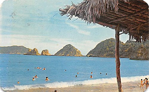 Amazon.com: Bay and Beach at Melaque Mexico Postcard Tarjeta ...