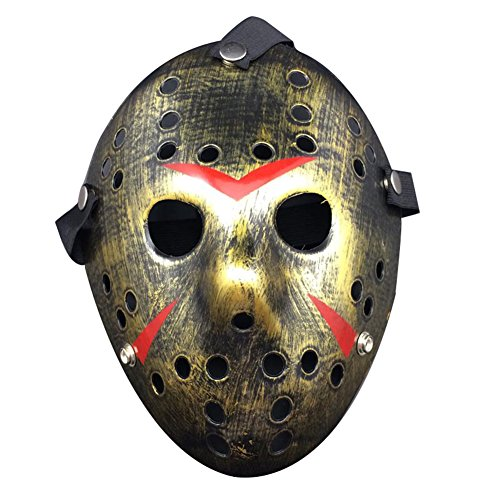Halloween Mask Cosplay Costume Mask Horror Funny (Scary Jason Mask)