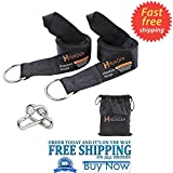 HUKOER Hammock Tree Straps Tree Swing Garden Hanging Rope with Carry Pouch Saf