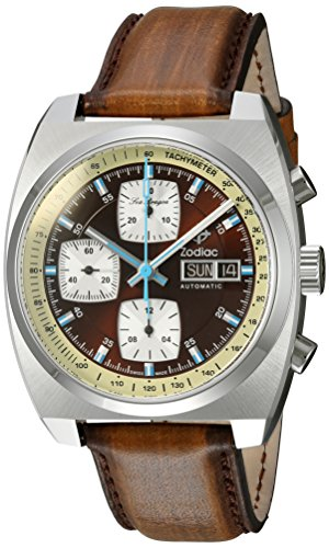 zodiac-mens-seadragon-swiss-automatic-stainless-steel-and-leather-casual-watch-colorbrown-model-zo99