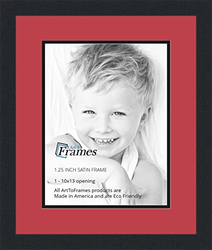 Art to Frames Double-Multimat-641-762/89-FRBW26079 Collage Photo Frame Double Mat with 1 - 10x13 Openings and Satin Black Frame