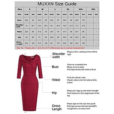 MUXXN Women's Classic Vintage Sweetheart Neckline Cocktail Prom Tea Dress: Clothing