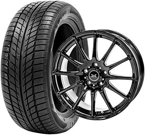 GOODRIDE (グッドライド) スタッドレスタイヤ ホイールセット 205/50R17 SW608 + 17×7.0J +48 5/114.3 ブラック 4本セット 2019年製