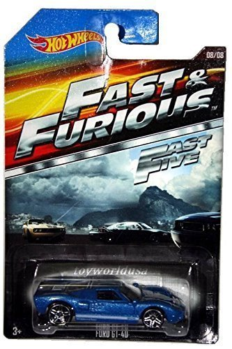 Fast Furious Movie Car Ford Gt  Hot Wheels Fast Five Rare
