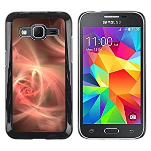 Caucho caso de Shell duro de la cubierta de accesorios de protección BY RAYDREAMMM - Samsung Galaxy Core Prime SM-G360 - Yellow Heart Floral Love