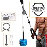 SYL Fitness LAT Pulley System with Loading Pin DIY Gym Cable Crossover Tricep Pulldown Attachment