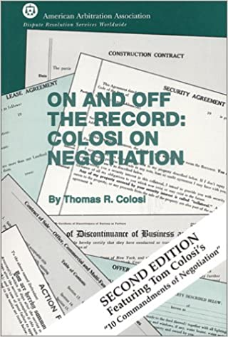 On and off the record colosi on negotiation 2nd edition thomas on and off the record colosi on negotiation 2nd edition 2nd edition fandeluxe Images