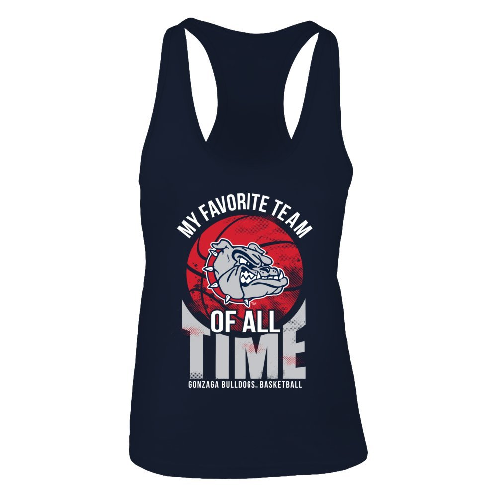 db2f8a525ab2 Amazon.com  Gonzaga Bulldogs My Favorite Team Of All Time T-Shirt -  Official Sports Apparel  Clothing