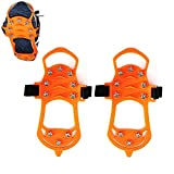 Walk Traction Cleats,Ice Cleats Traction,Non-slip Rubber and Steel Winter Ice Gripper Shoes Cover for Jogging, Hiking,Walking on Snow and Ice By Aolvo