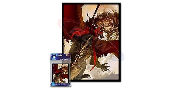 Amazon.com: 100 Carmesí Rider Dragon Deck protectores Max ...