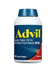 Advil Pain Reliever / Fever Reducer Coated Tablet, 200mg Ibup...