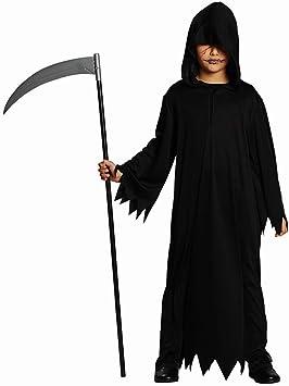 Hábito negro Traje Muerte de disfraz de Halloween para niños con ...