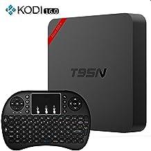Easytone T95N Mini MX+ Android 5.1 Smart TV Box 1GB/8GB Kodi XBMC Amlogic S905 Quad-Core 3D Blu-ray H.265 Super HD 4K Lan Internet Streaming Media Player Built in 2.4GHz Wifi + I8 Wireless Keyboard