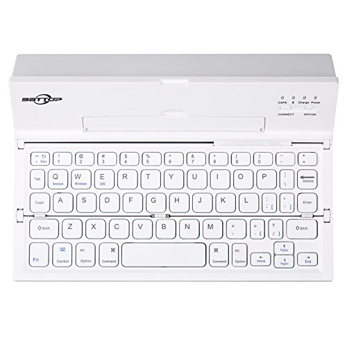 BATTOP New Generation Foldable Portable Bluetooth Keyboard with Kickstand Universal for iOS...