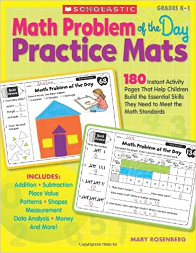 Amazon.com: Math Problem of the Day Practice Mats: 180 Instant ...