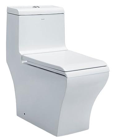 EAGO TB356 Dual Flush Eco Friendly Ceramic Toilet, 1 Piece