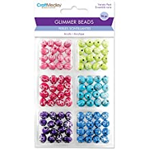Multicraft Imports Daisy Bling Glimmer Acrylic Disco Ball Bead Variety Pack 96 Pack