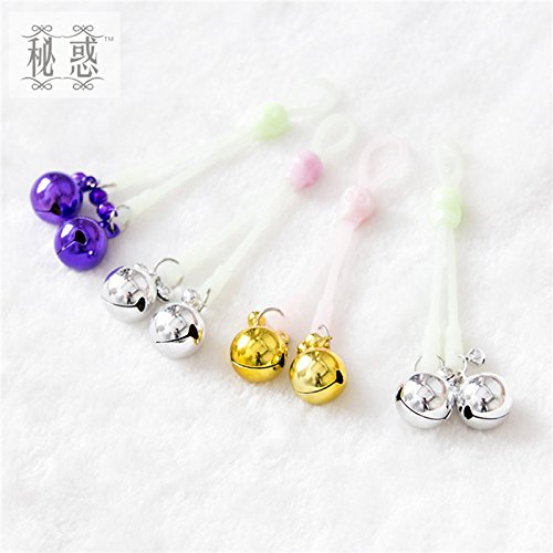 Adult Games 3 Colors Luminous Rope Nipple Clamps Flirting Nipple Clips Sex Products Shop for Women Men Sliver 1 Pair by Nipple Clamps