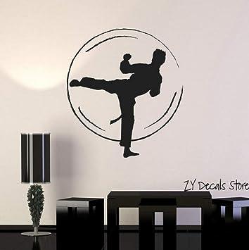 Karate Kampf Wandaufkleber Kampfkunst Jiu Jitsu Vinyl