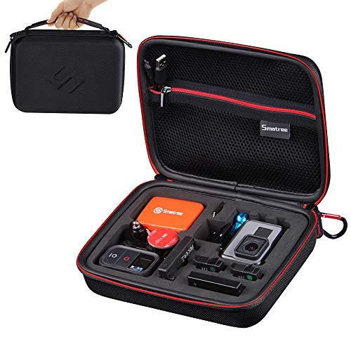 Smatree Carrying Case Compatible for GoPro Hero 7, 6, 5, 4, 3+, 3, 2, 1,GOPRO Hero (2018),DJI Osmo Action Camera(Camera and Accessories NOT Included)