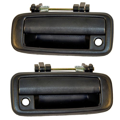 - 88-92 Corolla Prizm Front Outside Outer Exterior Black Door Handles Pair Set