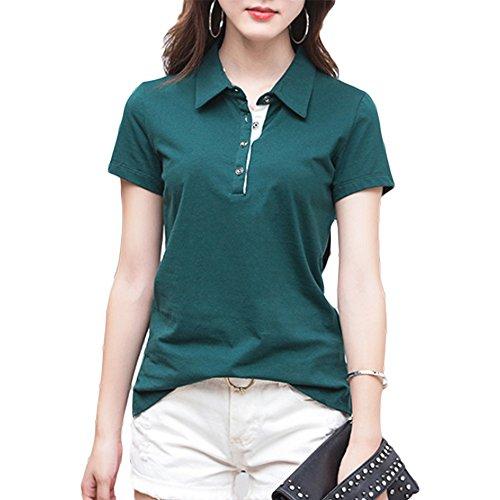 (トレジャーボックス) Treasure Box ゴルフウェア レディース ポロシャツ 半袖 シンプル