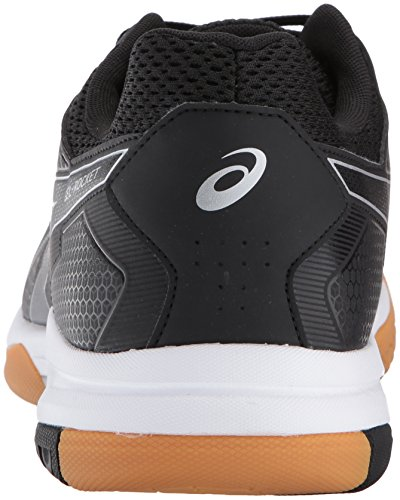 ASICS Mens Gel-Rocket 8 Volleyball Shoe, Black/White, 12 Medium US