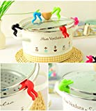 JD Million shop 2 pcs/lot New Creative Cooking Tools pot cover heightening Spill control silicone Little people modelling prevent bop overflow