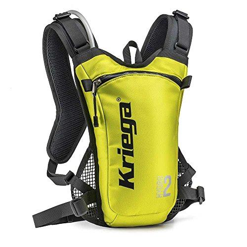 Kriega Hydro 2 Rucksack Wassertasche Trinkbeutel Trinksystem Motocross MX 2 Liter, 6501200 Gelb