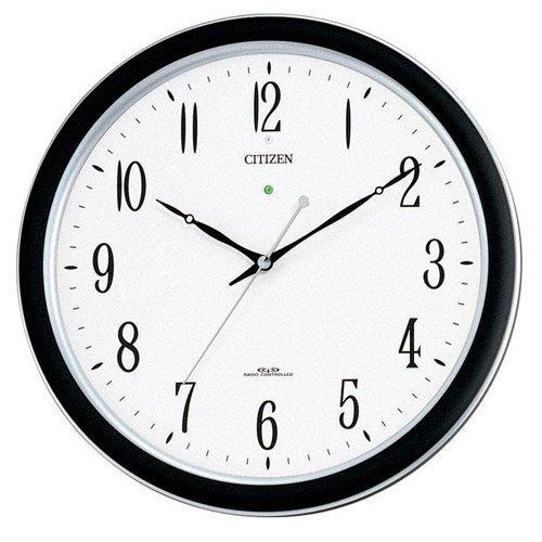 (シチズン/リズム時計) CITIZEN 強化防滴防塵型電波 掛 時計 ネムリーナM691F シルバーメタリック 4MY691-N19 B00IHX2UUU