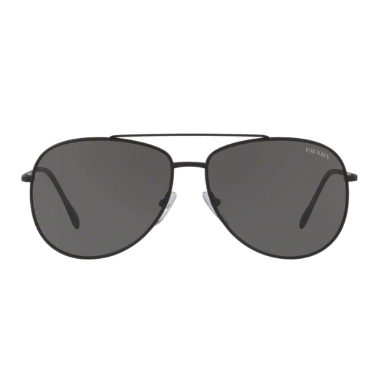 30a2936598 Amazon.com  Prada Sport PS55US DG05S0 Black Rubber PS55US Pilot Sunglasses  Lens Category 3  Prada Sport  Clothing