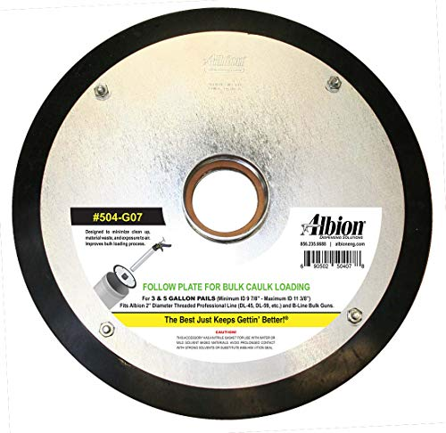 Albion Engineering 504-G07 Threaded Follow Plate for 5 Gallon Pail