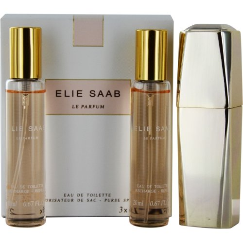 Elie Saab Le Parfum for Women-3 X 20 ml Purse Spray, 2 Refills 3423473984351
