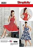 Simplicité pour femme Patron de couture 8051robes de style vintage