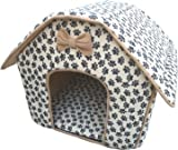 Catdog Collapsible Pet Paw Prints House-medium by masterpet