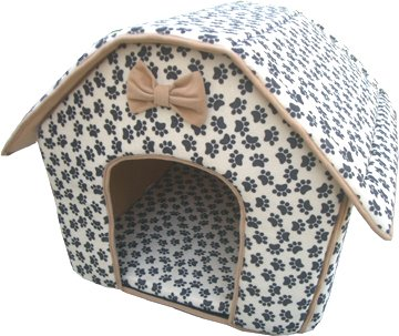 Cat/Dog Collapsible Pet Paw Prints House-Medium, My Pet Supplies