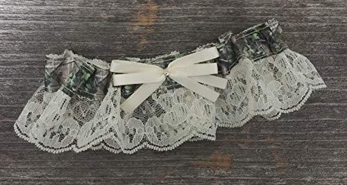Sexy Camouflage Ivory Lace Camo Bridal Rhinestone Wedding